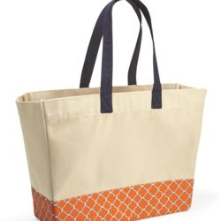 BB100 Patterned Bottom Beach Tote Thumbnail
