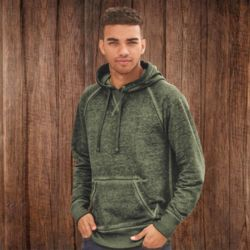 8915 Vintage Zen Fleece Hooded Pullover Sweatshirt Thumbnail